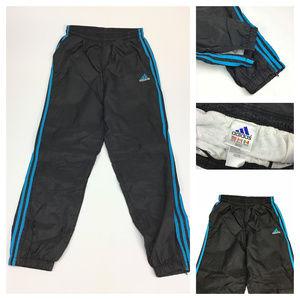Adidas striped windbreaker pants medium